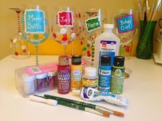 Not Your Ordinary Psychic Mom: How to Paint Wine Glasses - What You Need to Begin! (Part One)
