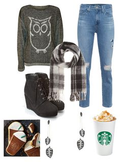 """""""Fall is here thank god!!"""" by fashionkatie ❤ liked on Polyvore featuring WearAll, AG Adriano Goldschmied, Forever 21, Marc by Marc Jacobs and MAHA LOZI"""