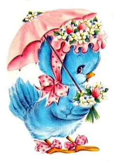 ♥ Vintage Blue Bird Love♥ Freebie Image - Free Pretty Things For You