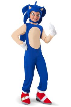 Sonic the Hedgehog Sonic Halloween Costume - Child Size Large. This is What Aidan Wants to be for Halloween. Sonic The Hedgehog Halloween Costume, Clever Halloween Costumes, Costumes For Sale, Boy Costumes, Halloween Kostüm, Simple Costumes, Awesome Costumes, Children Costumes, Vintage Halloween