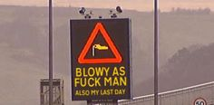funny weather sign