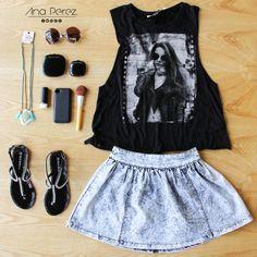 Este outfit con un estilo  it girl ;) perfecto para salir a un  concierto :D !!!! LIKE si te gusta ;) #ItGirl #outfit #girl #fresco #trendy #summer #shop #love #flores #TFLers #tweegram