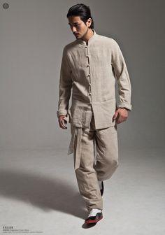 Linen Kung Fu Suit -