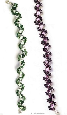 beaded bracelet graph tutorial: