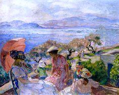 On the Terrace Facing the Sea, Sainte-Maxime Henri Lebasque - 1914