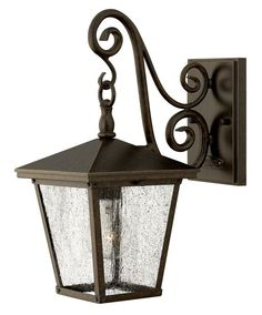 """View the Hinkley Lighting 1430 15.25"""" Height 1 Light Lantern Outdoor Wall Sconce from the Trellis Collection at LightingDirect.com."""