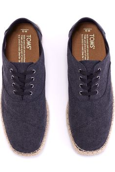 Featuring a rope sole, the new Camino from TOMS Shoes is ready for wearing.