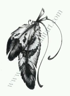 Native American Drawings of Eagle Feathers