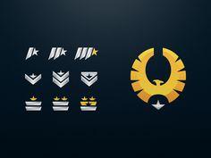 Elite Rank Emblems designed by Kallum Rayner for Creative Grenade. the global community for designers and creative professionals. Logo Design Inspiration, Icon Design, Design Design, Graphic Design, App Badges, Logo Sketches, Retro Logos, Vintage Logos, Portfolio Web Design