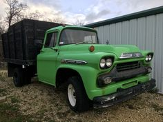 1959 Chevy Viking C40⚡️Dually ⚡️Dump truck   ...Please save this pin.  Because for vintage collectibles - Click on the following link!.. http://www.ebay.com/usr/prestige_online