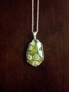 Wire Wrapped Green Agate Necklace by TheDamselCollection on Etsy, $40.00