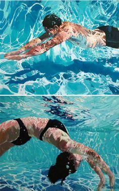 Paintings underwater