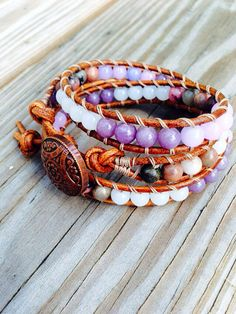 Mother's Day SALE  Leather Wrap Bracelet  by SimplyLoveleaDesigns