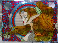 WARRIOR wicoart HANDMADE STAINED GLASS EFFECT WINDOW CLING EASY TO APPLY AND TO REMOVE HAND PAINTED WITH GALLERY GLASS AND GLASS PAINT PEBEO ON AN ELECTROSTATIC VINYL SHEET ONE OF A KIND OOAK