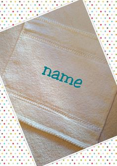 personalised baby,kids face cloth