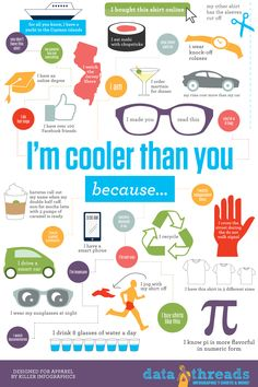 Why I'm cooler than you Infographic.