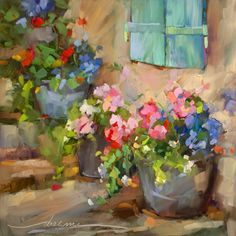 """""""Step Into Joy""""  Colorful Oil Paintings of France by Dreama Tolle Perry"""