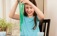 Learn to make your own slime with four easy slime science projects for kids. Most use only common household items! Glooze, oobleck & more.
