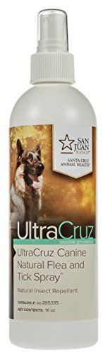 Dog Flea Sprays - UltraCruz Canine Natural Flea and Tick Spray 16 oz *** Click image for more details. (This is an Amazon affiliate link)