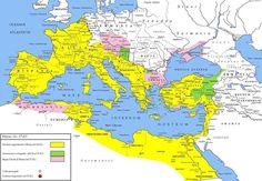 The Roman Empire under Tiberius,the Second Emperor of Rome 14 AD - 37 AD. (Photo…