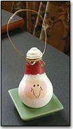 Christmas Crafts: Fun Santa Light Bulb Table Ornament Decoration - Kaboose.com