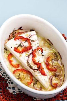 Gratinerad fetaost med paprika