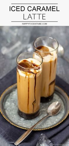 coffee drinks Iced caramel latte takes no more than a minute to make and you dont need any special skills to make it. Its the perfect coffee drink for summer! Espresso Recipes, Espresso Drinks, Coffee Recipes, Coffee Drinks, Iced Caramel Latte Recipe, Iced Latte, Coffee Latte, Coffee Creamer, Ice Latte Recipe