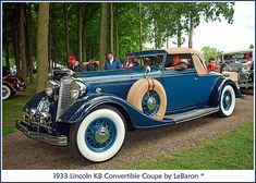 1933 Lincoln KB Convertible Coupe by  Le Baron.