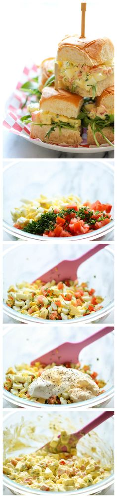 Skinny Egg Salad Sliders - Cut back on the calories with these healthy Greek yogurt egg salad sliders on sweet Hawaiian rolls!
