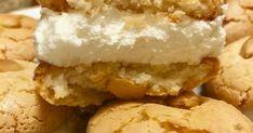 Τα καλύτερα Μακαρόν με φανταστική κρέμα !!! Είναι εξωτερικά αφράτα και εσωτερικά μαστιχωτά και μπορείτε επίσης να αρωματίσετε και την ... Greek Sweets, Homemade Sweets, Greek Cooking, Marzipan, Food Hacks, Crockpot, Gluten Free, Ice Cream, Sugar