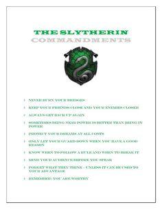 Slytherin Commandments