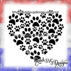 Cutting file pawprints in the shape of a heart, in Jpg Png SVG EPS DXF for Cricut & Silhouette, paw prints pet cat dog, plotter datei by DutchSVGDesigns on Etsy https://www.etsy.com/listing/268014850/cutting-file-pawprints-in-the-shape-of-a