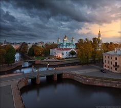 St. Nicholas Naval Cathedral - large Orthodox church standing on St. Nicholas Square in St. Petersburg, Russia