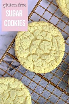 Almond flour sugar cookies are nod to the classic sugar cookie but are made with ingredients that are gluten free. These round thin cookies are formed from balls of cookie dough that are rolled in sugar before baking. The result is a homemade treat with Homemade Sugar Cookies, Gluten Free Sugar Cookies, No Flour Cookies, Keto Cookies, Sugar Cookies Recipe, Gluten Free Baking, Almond Cookies, Chip Cookies, Sugar Free