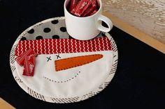 snowman mug mat