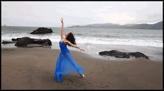 Blue Dress in the Wind by Oliver Endahl (Echograph)