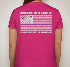 2015 NATIONAL POLICE WEEK FALLEN HEROES 'ROLL CALL' Fundraiser - unisex shirt design - small - back