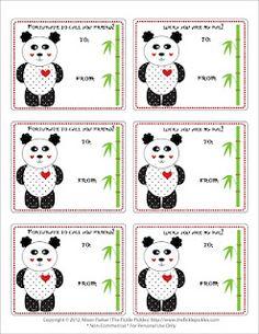 cute freebie Panda printable for Valentine's Day!