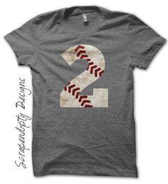 Baseball Number Iron on Transfer - Iron on Customized Baseball Shirt / Sport Birthday Party / Little League Tshirt / Mom Tball Shirt by ScrapendipityDesigns, $2.50