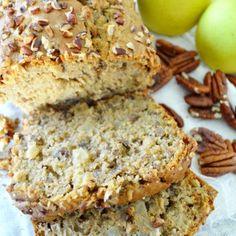 Muffin Tin Breakfast, Banana Bread, Candy, Desserts, Food, Yum Yum, Gluten, Xmas, Apple Cinnamon Bread
