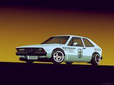 VW Scirocco Mk1 Bosozoku front by sergoc58