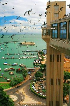 Bahia, Brazil. This elevator is actually part of the public transport system