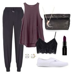 """""""Lazy day """" by sydney-alexis-spradley on Polyvore featuring Armani Jeans, RVCA, Topshop, Katie Rowland, Vans and Smashbox"""