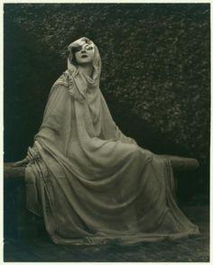 Ruth St Denis in greek costume in Greek Veil costume. (1920)