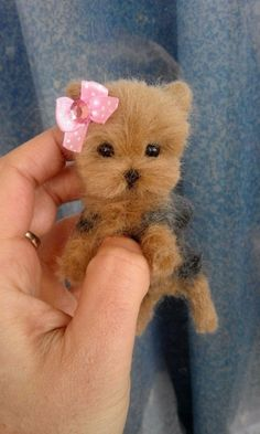 OOAK Needle Felted Miniature Yorkshire terrier puppy/dog | Dolls & Bears, Bears, Artist | eBay!