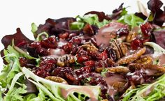 Thanksgiving Salad with Cranberries, Apples, & Caramelized Pecans