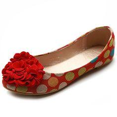 Ollio Women's Ballet Shoe Canvas Dot Pattern Flower Flat (6 B(M) US, Red) Ollio http://www.amazon.com/dp/B00BMAO5JO/ref=cm_sw_r_pi_dp_Cj9Wub12T9AW1