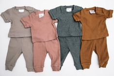 Honey Short Sleeve Ribbed Two-piece Cozy Honey Short Sleeve Ribbed Two-piece Cozy Set Honey Short Sleeve Ribbed Two-piece Cozy Set – Mebie Baby - Baby Boy Fashion, Little Girl Fashion, Fashion Kids, Newborn Outfits, Baby Boy Outfits, Kids Outfits, Neutral Baby Clothes, Trendy Baby Clothes, Organic Baby Clothes