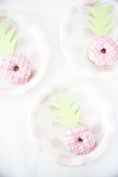 Easy Pink Pineapple Donuts | Best Friends For Frosting