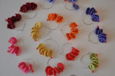 Crochet Colorful Earrings Choose the Colour by stellacreations
